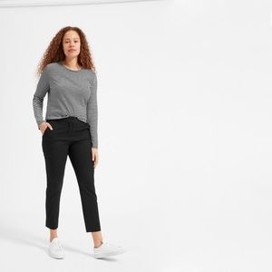 Everlane Long Sleeve Cotton Crew Stripped M